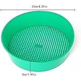Poity Garden Sieve Plastic Riddle Green For Composy Soil Stone Mesh Gardening Tool