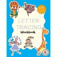 "Letter Tracing Workbook: Letter Tracing Practice Book For Preschoolers, Kindergarten (Printing For Kids Ages 3-5)(1"" Lines, Dashed)(V6)"