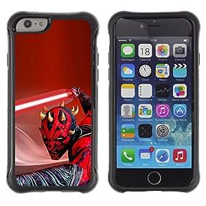 ZAKO CASES / Apple Iphone 6 / Darth Maul Light Saber / Robusto Prueba de choques Caso Billetera cubierta Shell Armor Funda Case Cover Slim Armor