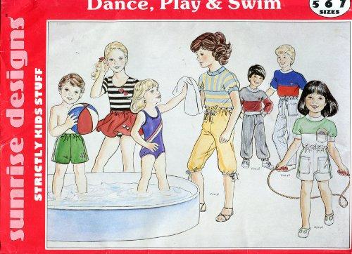 Sunrise Skirt (Sunrise Designs Pattern ~ Dance, Play & Swim ~ Children's Swimsuits, Leotards, Dance Skirt, Short, Pants, Knickers, Tops ~ 5-6-7)