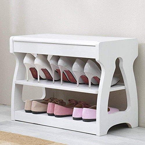 SED Sofa Stool- Change Shoe Stool Storage Stool Creative Solid Wood Footstool Test Shoe Stool (3 Colors Optional) (62 30 45cm) -Storage Stool