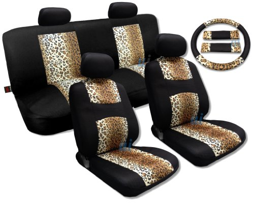 Cool Fur Print Tan Leopard Black Knit Mesh Cool Breeze