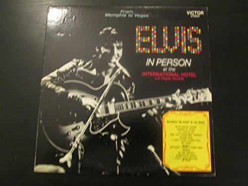 Elvis Presley, In Person at the International Hotel in Las Vegas - Vinyl LP Record (Elvis In Person At The International Hotel Vinyl)