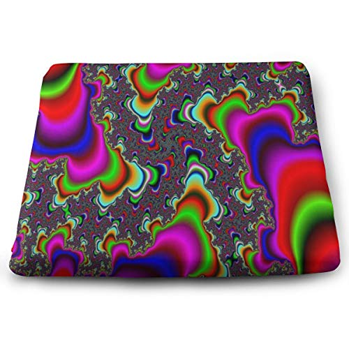 Seat Cushion Colorful Trippy Chair Cushion Inspiring Offices Butt Chair Pads for Indoor