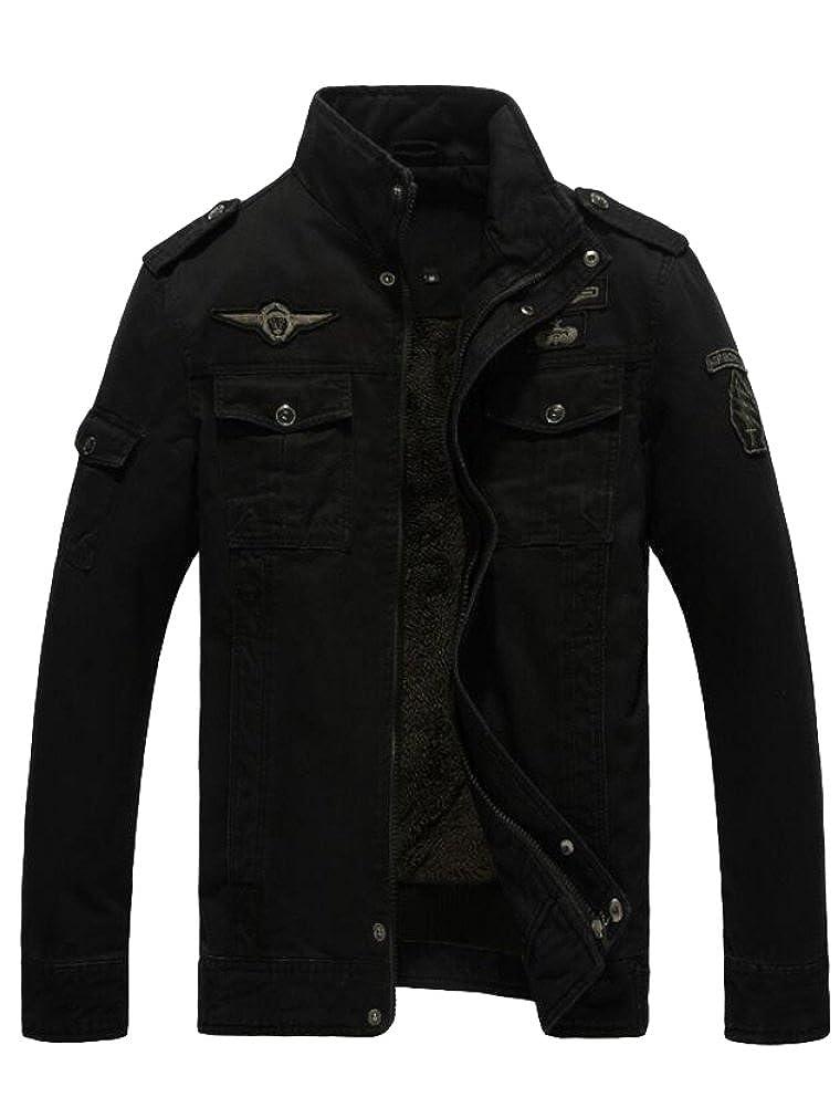 MatchLife Homme Blouson Style Militaire Veste Masculine Manteau d Automne Hiver Printemps