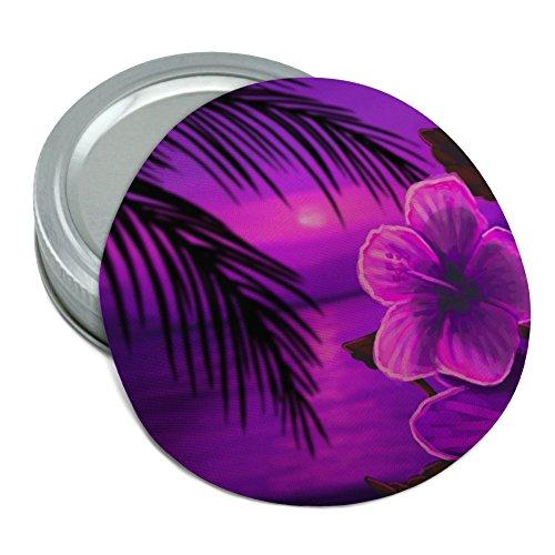 Beach Sunset Hibiscus Flower Hawaiian Purple Round Rubber Non-Slip Jar Gripper Lid Opener