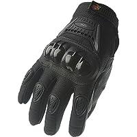 Guantes para motocicleta o bicicleta de carretera de Dedo Completo 09 (Mediano, negro/)