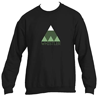 Whistler BC Minimal Mountain - Canada Men s Crewneck Sweatshirt (Small 7839a97d1e