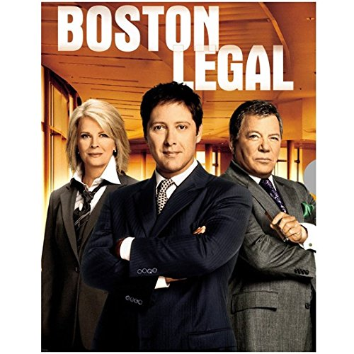 Boston Legal 8 x 10 Photo Boston Legal William Shatner/Denny Crane, James Spader/Alan Shore & Candice Bergen/Shirley Schmidt BOSTON LEGAL kn