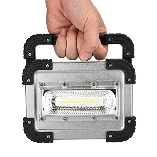 LED Rechargeable 30W USB COB LED Portable Rechargeable Flood Light Spot Work Camping Outdoor LampMobile Portable Work Site FloodLight Camping Fishing Durable by Dreamyth