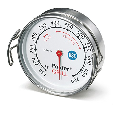 Polder THM-570 Grill Surface Thermometer, Stainless Steel