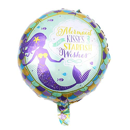 Ballons Accessories - 45 45cm 2pcs Set Mermaid Cartoon Princess Aluminum Foil Balloons Decoration Kids Birthday Party - Ballons Balloons Accessories Ballons Accessories Frozen Birthday Dinosau