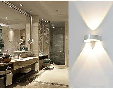 Agréable En Aluminium Murale Éclairage D'ambiance Applique Pour Led 0Ok8nwP