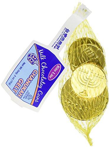 Chanukah Gelt Milk Chocolatey Coins - 1 Mesh Pack