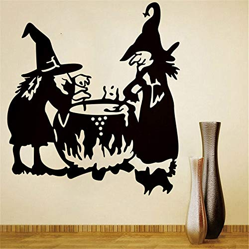 (Wall Stickers Halloween Witch Background Wall Sticker Window Home Decoration Decal Decor Home Garden Kitchen Accessories Decorative Stickers Wall)