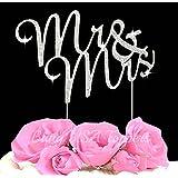 Lulu Sparkles LLC Crystal Rhinestone Bling Wedding Monogram Mr & Mrs Cake topper Wedding cake topper Bling Keepsake
