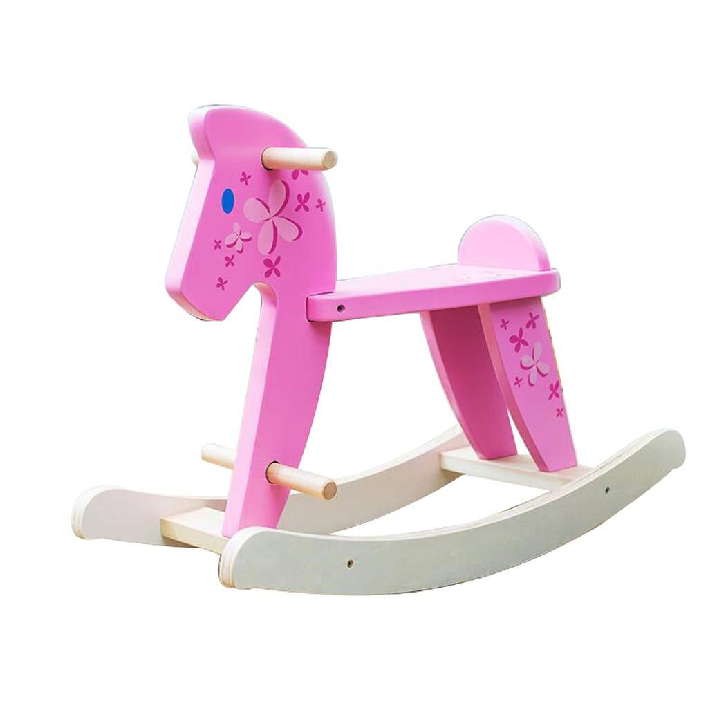Cavalli a dondolo FJH Bambini Giocattolo per Bambini Sedia a Dondolo per Bambini Culla a Dondolo Regalo di Compleanno 68  27  49cm ( Colore   rosa )