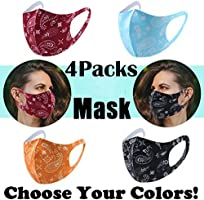 【US Shipping!!!】4/5PCS Adults 𝐅ace 𝐌ask, Cotton Washable Face Covering Minimalist Design Men Women Unisex (A-4PCS)