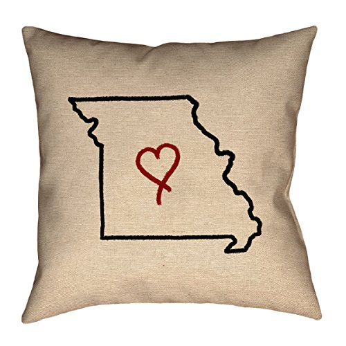 ArtVerse Katelyn Smith Missouri Love 28'' x 28'' Floor Pillows Double Sided Print with Concealed Zipper & Insert by ArtVerse