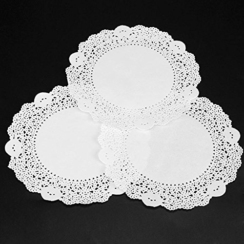 Mats & Pads - 160pcs Pack White Round Lace Paper Doilies Vintage Cake Doyleys Placemat Diy Craft Wedding Christmas - Gold Round Grey Pink Wedding White Oval Cream Ivory Blush Copper Crafts Pla