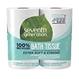 Health & Personal Care : Seventh Generation Toilet Paper, Bath Tissue, 100% Recycled Paper, 48 Rolls (Packaging May Vary)