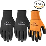 Wells Lamont Ultimate Gripper Work Gloves, PU-Coated, 3-Pack, Large (559LF)