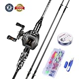 LIEYUWANG Fishing Rod Reel Combos Kit,Fishing Rod High Strength,Not Easy to Break,Light Weight,Easy to Use.Fishing Kit for Fishing Beginners and Fishing Enthusiasts