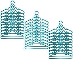 Delta Nursery Hangers 30 Pack For Baby, Toddler, Kids, Children (3 Packs of 10) (Turquoise)