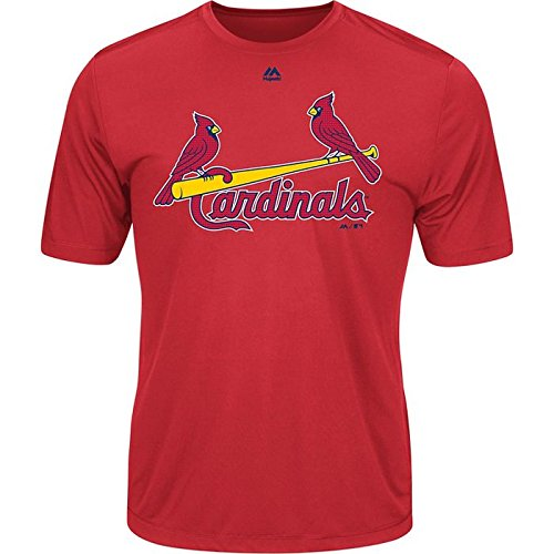 (Majestic Men's Cool Base MLB Evolution Shirt St Louis Cardinals XL)