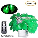 Fairy Lights Kit,Leaves String Lights with Waterproof/AA Battery Powered Bar Lights Decorations for Restaurant,Teahouse,Garden, Home, Wedding,Christmas (5m 40 Lights, Remote Control Battery Box)