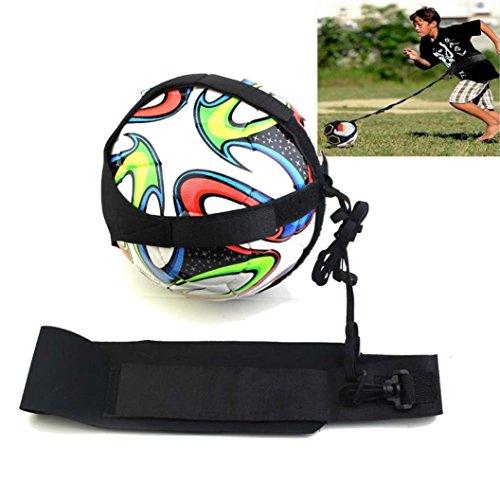 Livoty Football Kick Trainer Skills Solo Soccer Training Aid Equipment Waist Belt (Black)