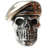 Green Beret Paracord / Lanyard Bead in .925 Sterling Silver & Bronze by GD Skulls