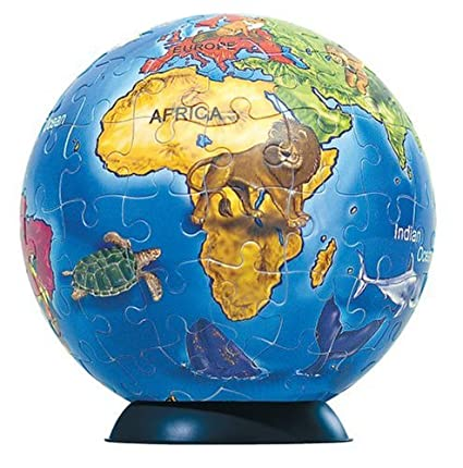 Buy junior world map globe 96 pc online at low prices in india junior world map globe 96 pc gumiabroncs Gallery