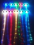 "RioRand 6-pack Light-up Fiber Optic Led Hair Lights (14"" Strands) - Multicolor Flashing Barette - Rainbow Colors (Alternating Multicolors) - Rave Party Hair Accessories (RioRand 6-pack Flashing Barettes)"