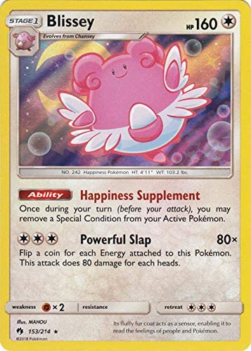 Details about  /Pokemon Card Blissey 153//214 Lost Thunder Rare Holo in Good Condition!