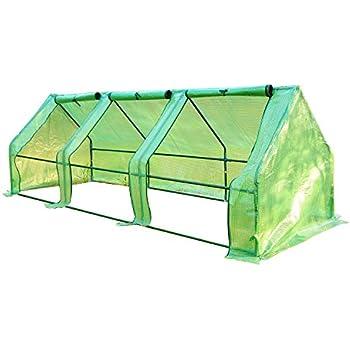 Outsunny 9'L x 3'W x 3'H Portable Flower Garden Greenhouse