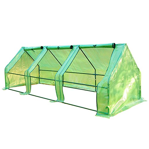Outsunny 9'L x 3'W x 3'H Portable Flower Garden Greenhouse - Flower Bed Tent
