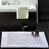 New Product White : hotel 100% cotton Bath Mats Bathroom rug Horizontal Rug Non-slip carpet Doormat Carpet cotton Super Absorbent