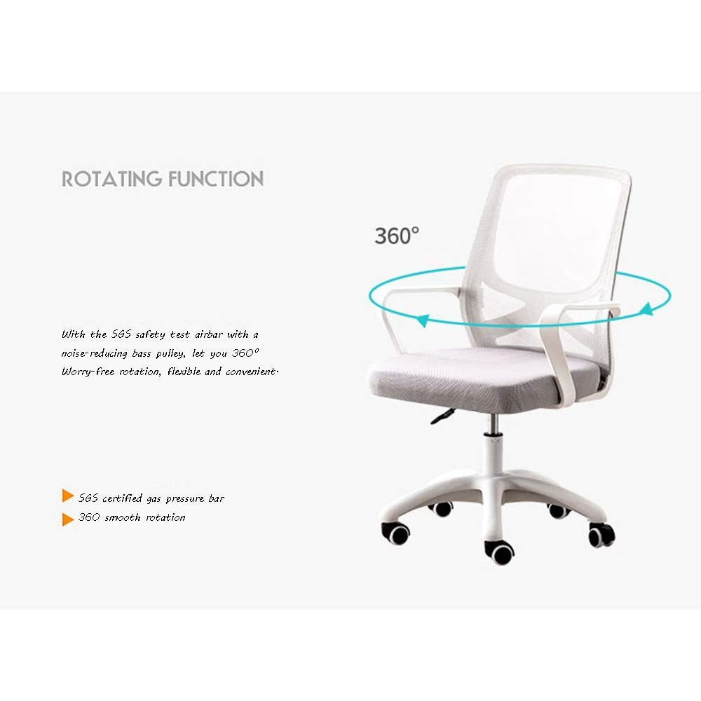 JIEER-C stol datorstol, upphöjd roterande hushåll kontorsstol ergonomisk ryggstöd personal verkställande stol uppskattad lastkapacitet: 150 kg, grå Grått