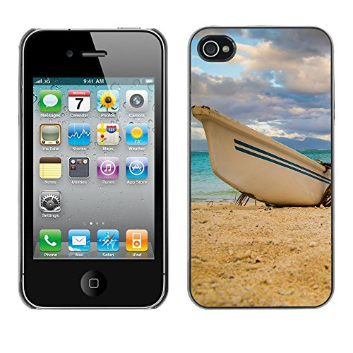 Premio Sottile Slim Cassa Custodia Case Cover Shell // F00004099 bateau // Apple iPhone 4 4S 4G