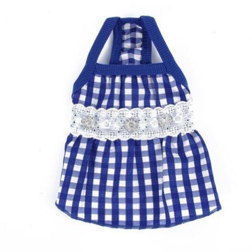 picama-dog-pet-puppy-clothes-lace-plaid-skirts-dress-summer-shirts-apparel-xs-s-m-l-xl