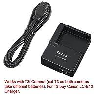 Canon Repuesto LC-E8E Cargador rápido para Canon LP-E8 Batería de ión de litio Compatible con Canon Canon EOS 550D, 600D, 650D, 700D, EOS Rebel T2i, T3i, T4i, T5i, Kiss X4, X5, X6