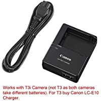 Canon replacement LC-E8E Quick Charger for Canon LP-E8 Li-ion Battery compatible with Canon EOS 550D, EOS 600D, EOS Rebel T2i, EOS Rebel T3i