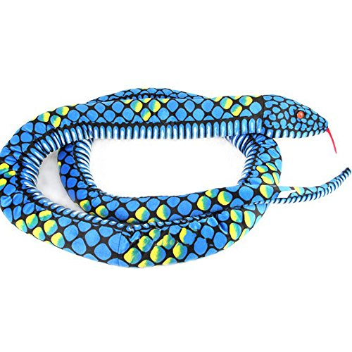 Lazada Realistic Stuffed Giant Boa Constrictor Dolls Plush Snake Toys Blue Over 5.5 Feet Long