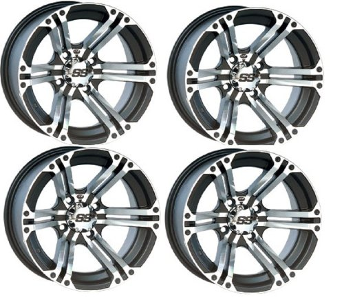 Ss212 Tire Wheel Kit - ITP SS212 Wheel or Rim Kit Polaris Ranger & RZR Michine & Black Includes Lug Nuts