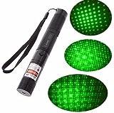 50mW Verde portátil Puntero Láser - 5000 horas Vida útil, continuo modo de onda, salida constante, Recargable