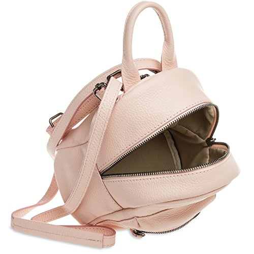 1 made Genuine Bag Women 2 of Pink Small Shoulder in TL777 Backpack Leather City CASPAR ZxqIvfI