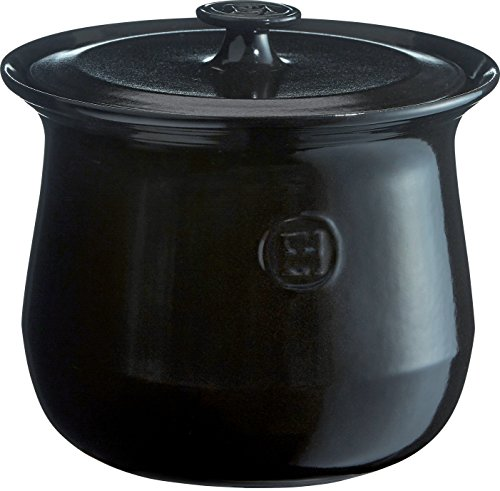 Emile Henry 795580 France Flame Cookware Soup Pot, 4.2 quart, Charcoal by Emile Henry