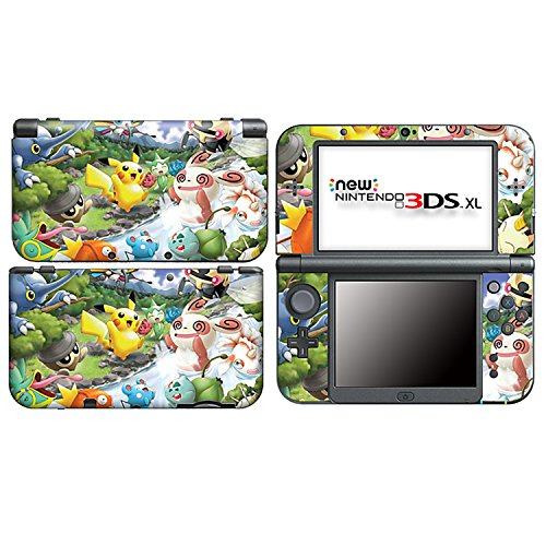 PIKACHU for New Nintendo 3DS XL Skin Vinyl Decal Stickers + Screen Protectors