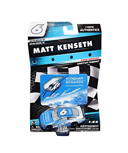 (AUTOGRAPHED 2018 Matt Kenseth #6 Wyndham Rewards Team REPLACEMENT DRIVER (Roush Racing) Monster Energy Cup Series Signed Lionel 1/64 Scale NASCAR Diecast Car with COA)